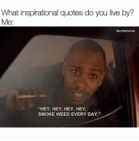 "RealTalk! 😂🤣 @Wolfiememes WSHH: What inspirational quotes do you live by?  Me:  @wolfiememes  ""HEY, HEY, HEY, HEY,  SMOKE WEED EVERY DAY RealTalk! 😂🤣 @Wolfiememes WSHH"