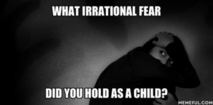 Fall, Fear, and Car: WHAT IRRATIONAL FEAR  DID YOU HOLD AS A CHILD?  MEMEFULCOM I always afraid that the car door would open and Id fall out.