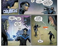funnypages:  Who among us hasn't sexualized Dick?Titans #24: WHAT  IS?  H...ALL  OF IT. EXCEPT  IVE NEVER  READ A MIND LIKE  ITS NOT. THIS... SIMULTANEOuS  LIES AND TRUTHS, NO  BASELINE VALUE  FOR HONESTY-  SOU'RE  READING MY  MIND?  WHAT AM  I THINKING  NOW?  HOW DARE  YOU IMAGINE  NIGHTWING IN  THAT SORT OF...  POSITION.  OH MY  GOD. THAT'S  THE FILTHIEST  THING I'VE  EVER  AT'S  BA  OFF  NOW LOOK  HERE- funnypages:  Who among us hasn't sexualized Dick?Titans #24