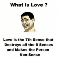 What Is Love, Dekh Bhai, and International: What is Love?  Love is the 7th Sense that  Destroys all the 6 Senses  and Makes the Person  Non-Sense See it by yourself next month 😜😂 Sab Moh Maaya hai 😝