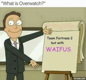 """Short and fast: What is Overwatch?""""  Team Fortress 2  but with  WAIFUS  VIA 9GAG.COM Short and fast"""