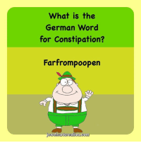 Memes, 🤖, and German: What is the  German word  for Constipation?  Farfrompoopen  ewel sartoreation.co Hahaha! Oh my! 😂