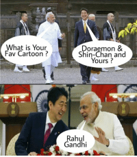 Credit : Smile Please: What is Your  Fav Cartoon  Doraemon &  hin-Chan and  Yours?  Rahul  Gandhi Credit : Smile Please