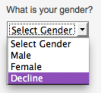 Tumblr, Blog, and Http: What is your gender?  Select Gender  Select Gender  Male  Female  Decline genderoftheday:Today's Gender of the Day is: Decline