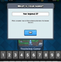 Should I make a game of war acc: WHat is YouR NaMe?  the legend 27  Pick a NaMe Your d like otHeR plaveras to kNow  You by.  OK  TRaiNiNg CaMP  1 2 3 4 5 6 7 8 9 0 Should I make a game of war acc