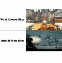 Mowing down your enemies like.. . Overwatch Overwatchmeme Bastion Bastionmeme meme: What it looks like:  What it feels like: Mowing down your enemies like.. . Overwatch Overwatchmeme Bastion Bastionmeme meme