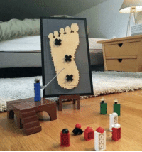 Legos, Looking, and What: What legos do when we are not looking