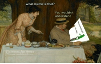 What Meme: What meme is that?  You wouldn't  understand  LASSICAL ART MEMES