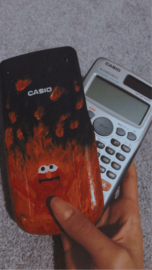 What my 11 year old niece did to her calculator for her next math competition….: What my 11 year old niece did to her calculator for her next math competition….