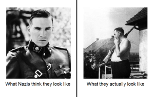 History, Amon, and Think: What Nazis think they look like  What they actually look like Amon Goeth, and Amon Goeth