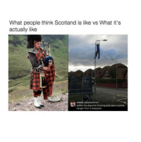WHY DO I ALWAYS HAVE TO HAVE THE SQEAKY CHAIR !!!: What people think Scotland is like vs What it's  actually like  robbie a  walkin ma dog this morning and seen a junkie  hangin from a lamppost WHY DO I ALWAYS HAVE TO HAVE THE SQEAKY CHAIR !!!