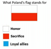 For Honor: What Poland's flag stands for  Honor  Sacrifice  Loyal allies