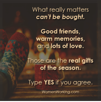 Memes, 🤖, and Jaws: What really matters  can't be bought  Good friends  Warm memories,  and lots of love.  Those are the real gifts  of the season.  Type YES if you agree.  Women Working.com 1. Don't believe me (just try) 2. This is completely nuts. 3. My jaw dropped when I read my report and got the guidance. I needed for my life success in 2017. 4. Pop in your name and birthday and see for yourself. (it's free)  http://bit.ly/numerology8 5. Seriously. I never believed in this stuff until I met this guy a short time ago... 6. Get the direction and clarification you need for 2017 with the numbers in nature (and answers) you need for the most successful year EVER!