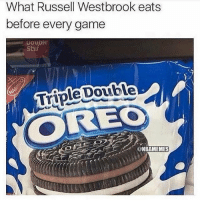 | leaked: possible MVP secret 🙊 NBA Shhh Oreos: What Russell Westbrook eats  before every game  Stuf  Triple Double  @NBAMEMES | leaked: possible MVP secret 🙊 NBA Shhh Oreos