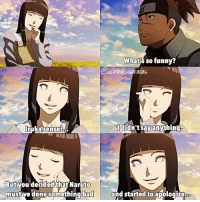 Memes, 🤖, and Naruto Shippuden: What so funny?  Couching L  saradas  ididn't say anything,  But you decided that Naruto  mustive done something bad  and started to apologizebao ⠀ Omfg,Hinata is so beautiful🙈💓 Tomorrow is friday,and I'll be more active yay🙄 Also I'll try to post more edits 🙌🏻 ⠀ — Naruto shippuden ; Ep499