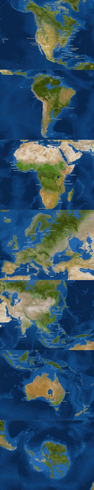 National Geographic, World, and All The: What the 7 continents would look like if all the ice in the world melted. (Source: National Geographic)