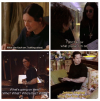 I highly relate to Ozzy Osbourne (and I fuckin love u @bustle <-- follow): What the fuck am Italking about.  What's going on here?  Who? What? Who's this? What  I don't know  what planet m on.  Iphone ringing)  What the fuck is that? I highly relate to Ozzy Osbourne (and I fuckin love u @bustle <-- follow)