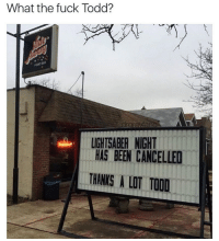 """Lightsaber, Rude, and Tumblr: What the fuck Todd?  rarawan  LIGHTSABER NIGHT  HAS BEEN CANCELLED  THANKS A LOT TOOD <p><a href=""""http://memehumor.net/post/165379130169/rude"""" class=""""tumblr_blog"""">memehumor</a>:</p>  <blockquote><p>Rude</p></blockquote>"""