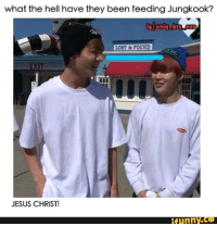 what the hell have they been feeding Jungkook?  iglaniq bts  LOBT POUND  EXIT  JESUS CHRIST!  funny CO