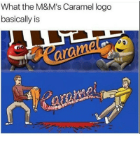 Funny, Memes, and 🤖: What the M&M's Caramel logo  basically is Follow @memezar for funny memes 🤣
