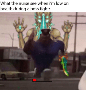 Good, Dank Memes, and Fight: What the nurse see when i'm low on  health during a boss fight: Terraria good!