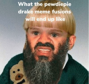 How far will these fusions go??: What the pewdiepie  drake meme fusions  will end up like How far will these fusions go??