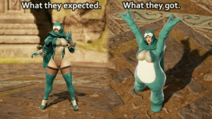 Sexy, Got, and Create A: What they  expected.  What they got.  Whatthey got. So someone requested to create a sexy busty Snorlax.. (Soul Calibur VI)