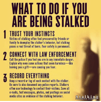 What to do if your being stalked