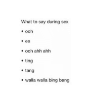 Movies, Sex, and Bing: What to say during sex  o ee  ooh ahh ahh  ting  tang  walla walla bing bang Did anyone even watch the minion movie