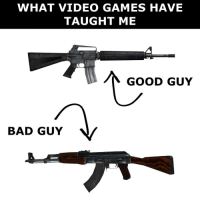 CS:GO taught me this: WHAT VIDEO GAMES HAVE  TAUGHT ME  GOOD GUY  BAD GUY CS:GO taught me this