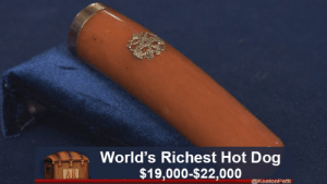 What was it before? Don't know and don't care. That's one rich hot dog. #funny #antiquesroadshow #lol #recaptions: What was it before? Don't know and don't care. That's one rich hot dog. #funny #antiquesroadshow #lol #recaptions