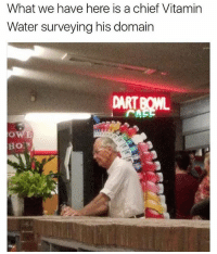 Hoe, Water, and Girl Memes: What we have here is a chief Vitamin  Water surveying his domain  HOE 😂😂😂😂