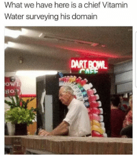 Memes, Water, and 🤖: What we have here is a chief Vitamin  Water surveying his domain 😂😂😂lol