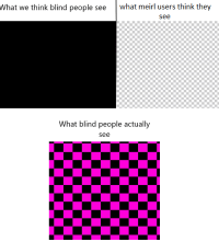 Irl, Me IRL, and MeIRL: What we think blind people seewhat meirl users think they  see  What blind people actually  see Me Irl