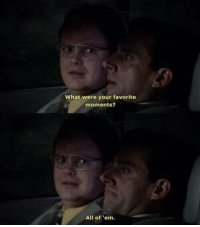 The Office, Office, and All: What were your favorite  moments?  All of 'em. Me after watching The Office... https://t.co/KoJTrvBrg5