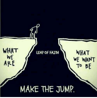 Memes, Jumped, and 🤖: WHAT  WHAT  LEAP OF FAITH  WE  WE WANT  ARE  TO BE  MAKE THE JUMP https://t.co/8ovHgNTczM