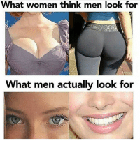 W for personality of tits 😂😴 Follow me @random_memes_appear for more: What women think men look for  What men actually look for W for personality of tits 😂😴 Follow me @random_memes_appear for more