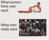 bionicles: What women  think men  Want  What men  really want  BIONICLE