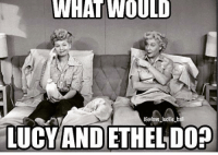 Lucy And Ethel: WHAT WOULD  IGolove lucille ball  LUCY AND ETHELDO?