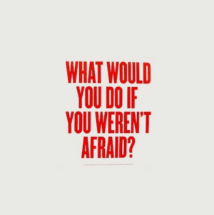 what would you do: WHAT WOULD  YOU DO IF  YOU WEREN'T  AFRAID?