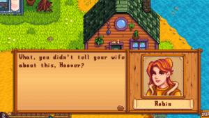 Business, Wife, and Robin: What, you di dn't tell your wife  about this, Hoover?  Robin  SKIP Gold: 500k Wood: 950 Robin giving you the business: priceless.