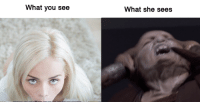 What you see  What she sees S U C C