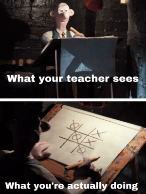 Teacher, Dank Memes, and You: What your teacher sees  What you're actually doing When your teacher gives you an exam