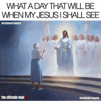 Jesus, Love, and Memes: WHATA DAY THAT WILL BE  WHEN MY JESUSISHALL SEE  @THECHRISTFANATIC  The Ultimate Goal  @THECHRISTFANATIC Follow @Jesus_The_Lord_ if you love Jesus!❤ @Jesus_The_Lord_👈❤ @Jesus_The_Lord_👈❤ @Jesus_The_Lord_👈❤ @Jesus_The_Lord_👈❤ @Jesus_The_Lord_👈❤ @Jesus_The_Lord_👈❤ @Jesus_The_Lord_👈❤ 👇 Find the wonderful pics only on @Jesus_The_Lord_ - Follow them for a surprise shoutout and follow back! @Jesus_The_Lord_✅
