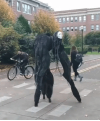 9gag, Halloween, and Memes: What'd you do if you see this on the way to school? - halloween 9gag