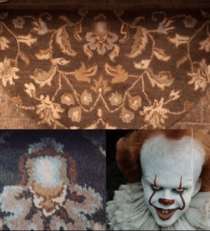 Whatever Stephen King told us about It's backstory, this is how really Pennywise was born. I doubt whoever owns this carpet is okay…: Whatever Stephen King told us about It's backstory, this is how really Pennywise was born. I doubt whoever owns this carpet is okay…