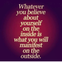 Confidence, Memes, and Focus: Whatever  you believe  about  yourself  on the  inside is  what you will  manifest  on the  outside. Self confidence is the #1 key to success.  EVERY self made millionaire utilizes this to create their own reality.  Don't sweat the small stuff, focus on the big picture, build yourself up and become who you want to be.  But it all starts internally!