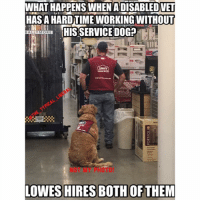 This made my night. Yes, it's true! The Lowe's Home Improvement (4134 Ridgemont Drive, Abilene, TX) really has a disabled veteran working with his service dog there. My respect for this company has skyrocketed! lowes servicedog disabledveteran veterans liberals libbys libtards liberallogic liberal ccw247 conservative constitution presidenttrump nobama stupidliberals merica america stupiddemocrats donaldtrump trump2016 patriot trump yeeyee presidentdonaldtrump draintheswamp makeamericagreatagain trumptrain maga Add me on Snapchat and get to know me. Don't be a stranger: thetypicallibby Partners: @tomorrowsconservatives 🇺🇸 @too_savage_for_democrats 🐍 @thelastgreatstand 🇺🇸 @always.right 🐘 TURN ON POST NOTIFICATIONS! Make sure to check out our joint Facebook - Right Wing Savages Joint Instagram - @rightwingsavages Joint Twitter - @wethreesavages Follow my backup page: @the_typical_liberal_backup: WHATHAPPENS WHEN ADISABLEDVET  HASA HARD TIME WORKING WITHOUT  HIS SERVICE DOGP  BALLY MORE  Louts  MY FOTO!  LOWES HIRES BOTH OF THEM This made my night. Yes, it's true! The Lowe's Home Improvement (4134 Ridgemont Drive, Abilene, TX) really has a disabled veteran working with his service dog there. My respect for this company has skyrocketed! lowes servicedog disabledveteran veterans liberals libbys libtards liberallogic liberal ccw247 conservative constitution presidenttrump nobama stupidliberals merica america stupiddemocrats donaldtrump trump2016 patriot trump yeeyee presidentdonaldtrump draintheswamp makeamericagreatagain trumptrain maga Add me on Snapchat and get to know me. Don't be a stranger: thetypicallibby Partners: @tomorrowsconservatives 🇺🇸 @too_savage_for_democrats 🐍 @thelastgreatstand 🇺🇸 @always.right 🐘 TURN ON POST NOTIFICATIONS! Make sure to check out our joint Facebook - Right Wing Savages Joint Instagram - @rightwingsavages Joint Twitter - @wethreesavages Follow my backup page: @the_typical_liberal_backup