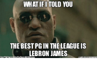 Heat Nation with the BEST PG? Credit: Coby Brian  http://whatdoumeme.com/meme/kb01aq: WHATIFI TOLD  THE BEST PGIN THELEAGUE IS  LEBRON JAMES  Brought By  book  Face  com/NBA Heat Nation with the BEST PG? Credit: Coby Brian  http://whatdoumeme.com/meme/kb01aq