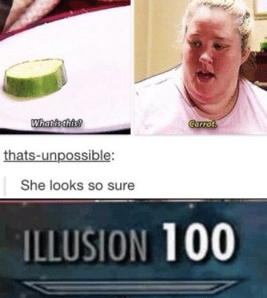 Dank, Memes, and Target: Whatisthis  Carrot  thats-unpossible:  She looks so sure  ILLUSION 100 Practice makes perfect by hercs247 MORE MEMES